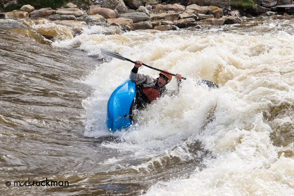Eugene Buchanan rocking the Yampa. Submitted by: Mark Ruckman