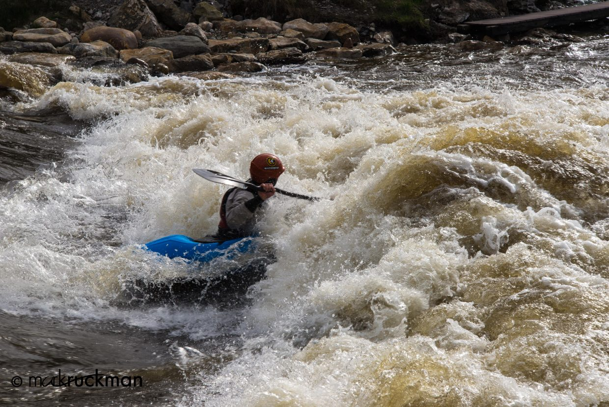 Eugene Buchanan down in the churn. Submitted by: Mark Ruckman