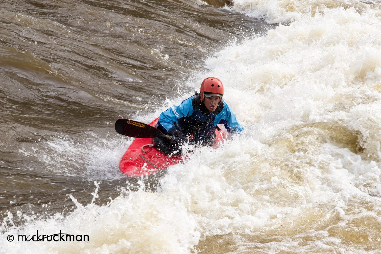 Sandy Buchanan hammering the Yampa. Submitted by: Mark Ruckman