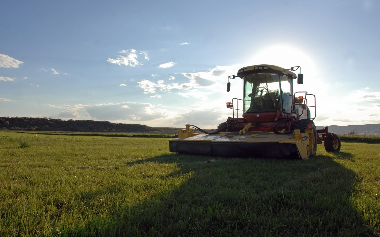 A swather sits idle at Carpenter Ranch in Hayden. The ranch now is a nature preserve managed by the Nature Conservancy. The ranch will be one of three stops state officials make Tuesday as part of a tour of the Yampa Valley to assess impacts of drought conditions on agriculture, the environment, municipalities and tourism.