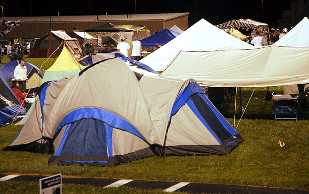 Relay for Life participants brought canopies and tents to rest in during their off-times of walking the track from 6 p.m. Friday until noon Saturday.