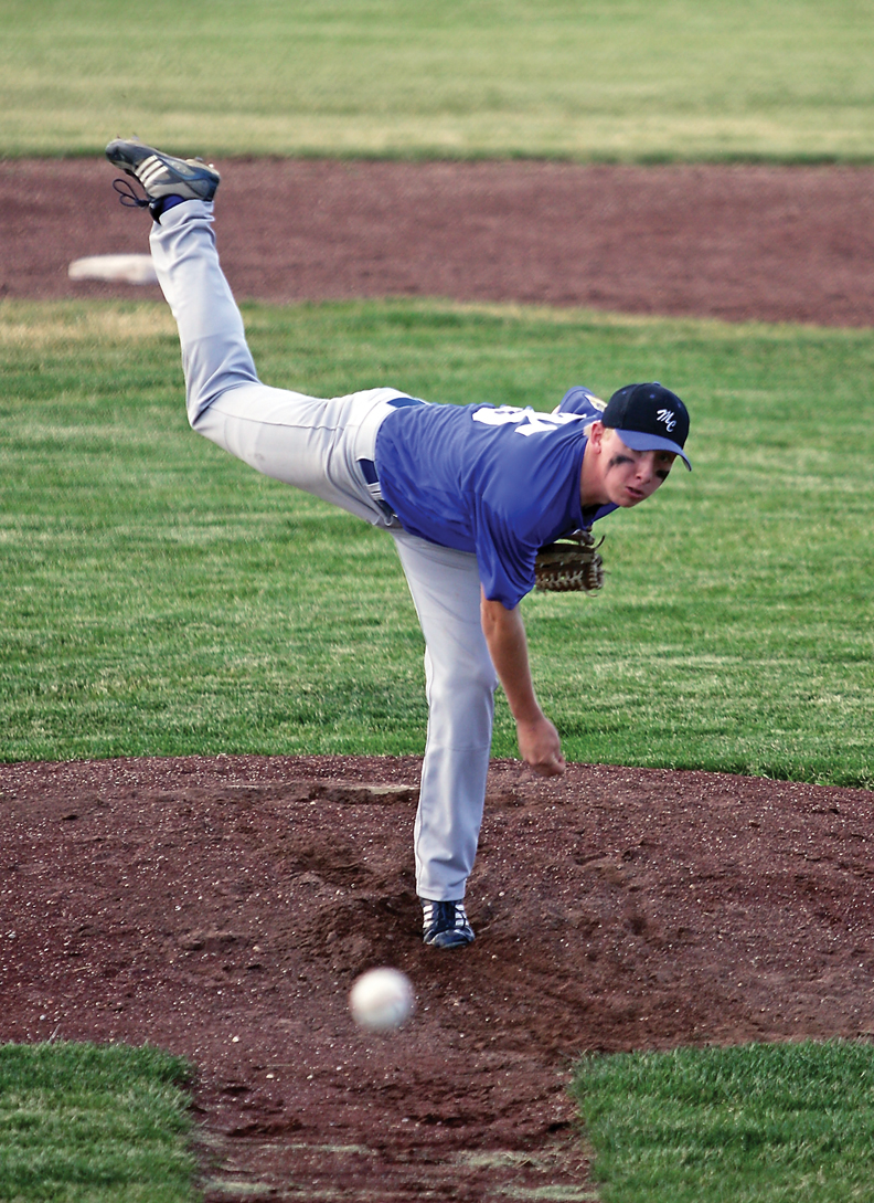 Bubba Ivers pitches during an American Legion league game against Steamboat Springs Tuesday at Craig Middle School. Ivers also contributed to the effort offensively with two home runs in the first game of the doubleheader.