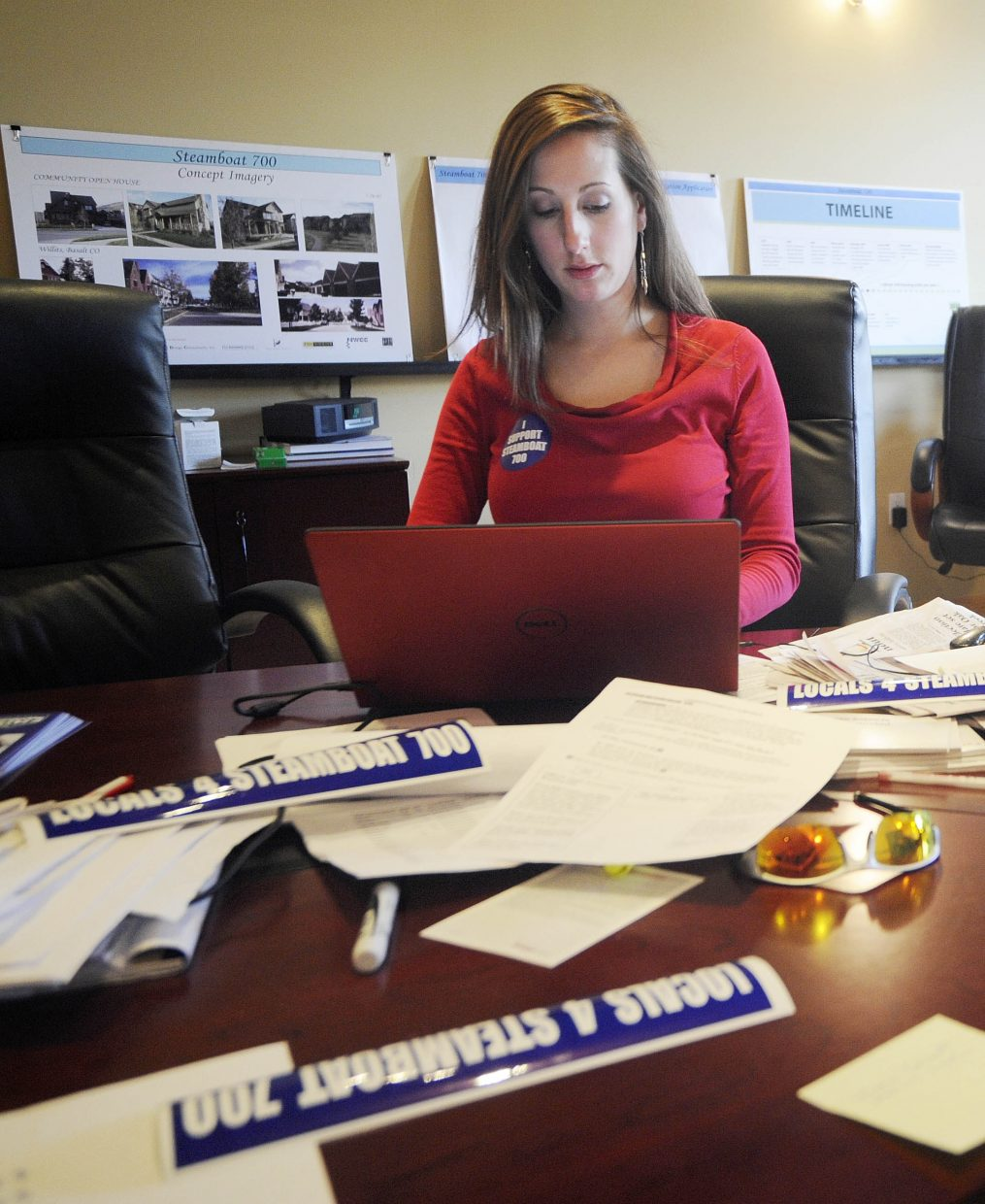 Tessa DeVault works in the Steamboat 700 office.