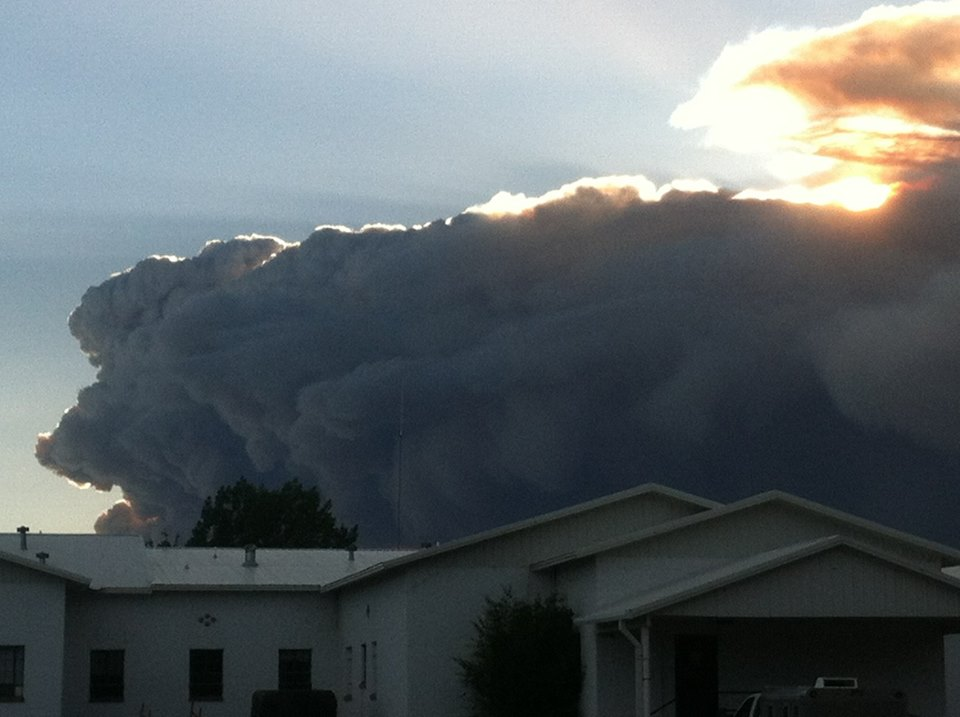 West Fork Fire on Wolf Creek Pass taken from my daughter's backyard in Monte Vista on Friday. Submitted by: Maryedith Davies