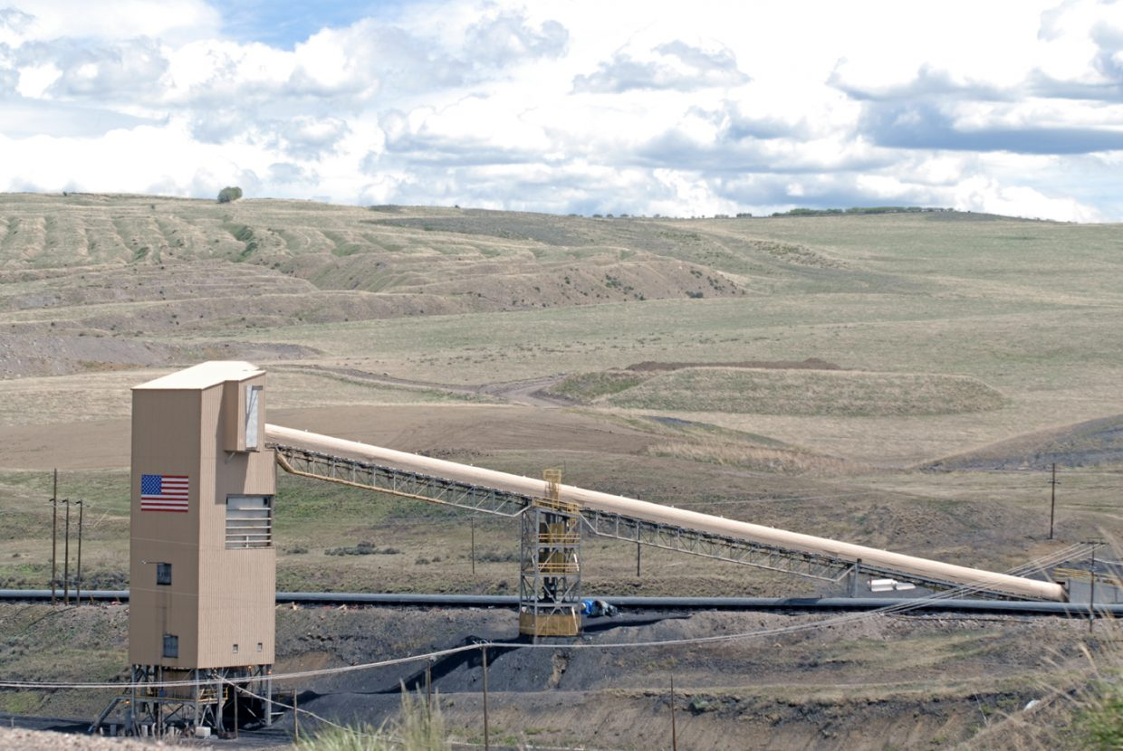 This coal distribution center marks the end of a winding, above ground processing system at Twentymile Mine where coal is eventually loaded onto rail cars for delivery to Hayden Station. The system will remain on Twentymile property after the company moves to the Sage Creek reserve in 2015.