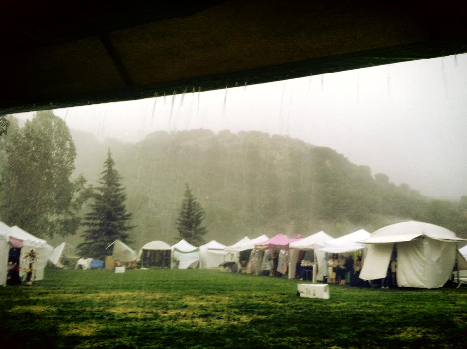 Monsoon season at Art in the Park 2013. Submitted by: Maryedith Davies