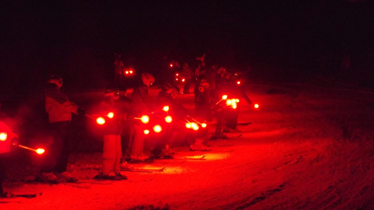 99th Winter Carnival jumpers with torches. Photo submitted by Nancy Blank