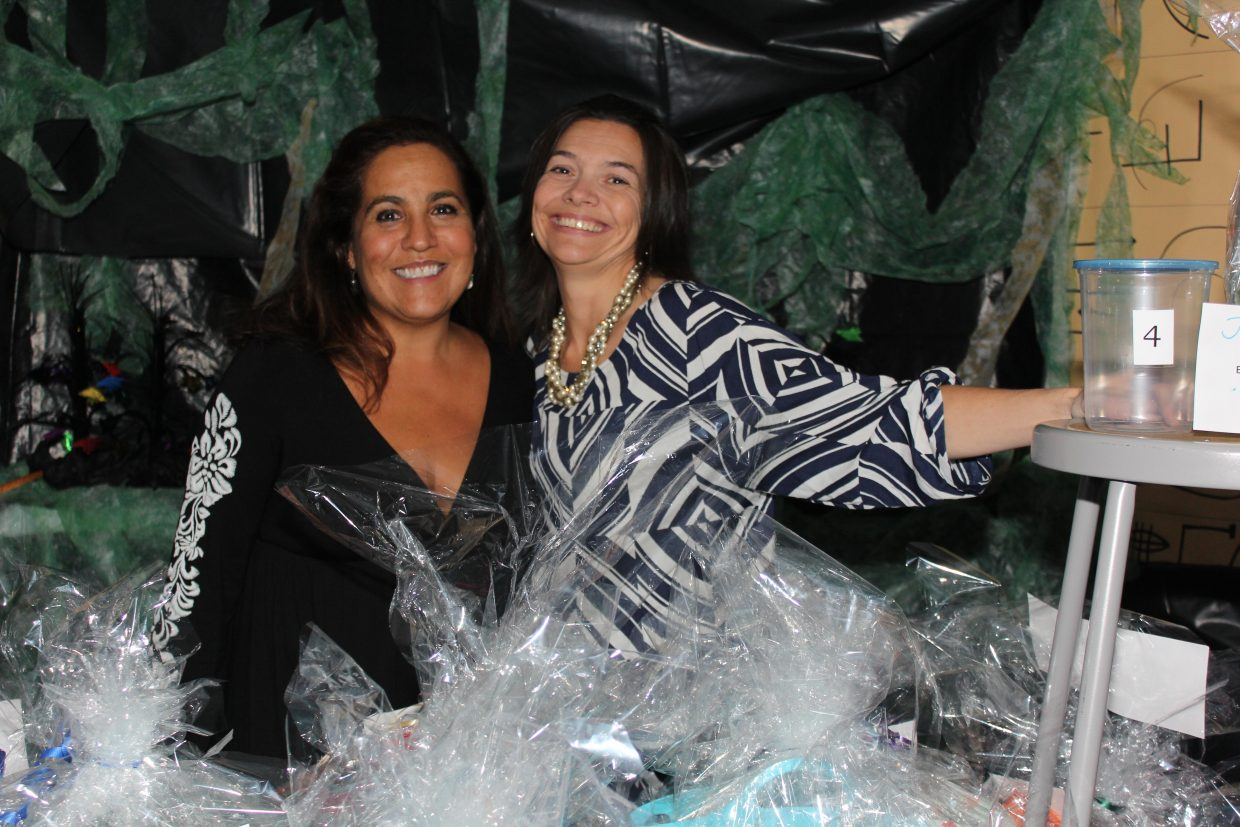 This is Paula Salky and Kim Bates. They organized all of the gift baskets for After Prom. Photo courtesy Darcy Owens-Trask.