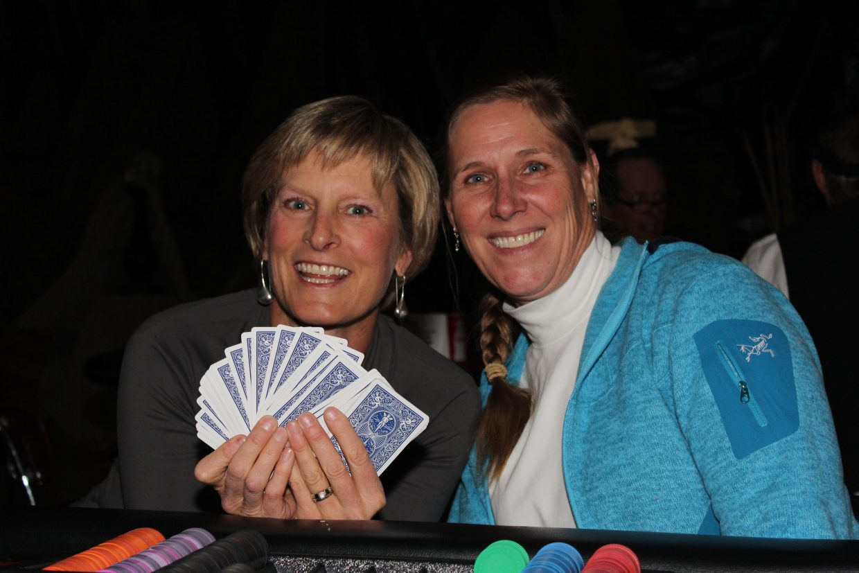 Linda Sobeck and Ann Dixon helped at the casino tables for After Prom. Photo courtesy Darcy Owens-Trask.