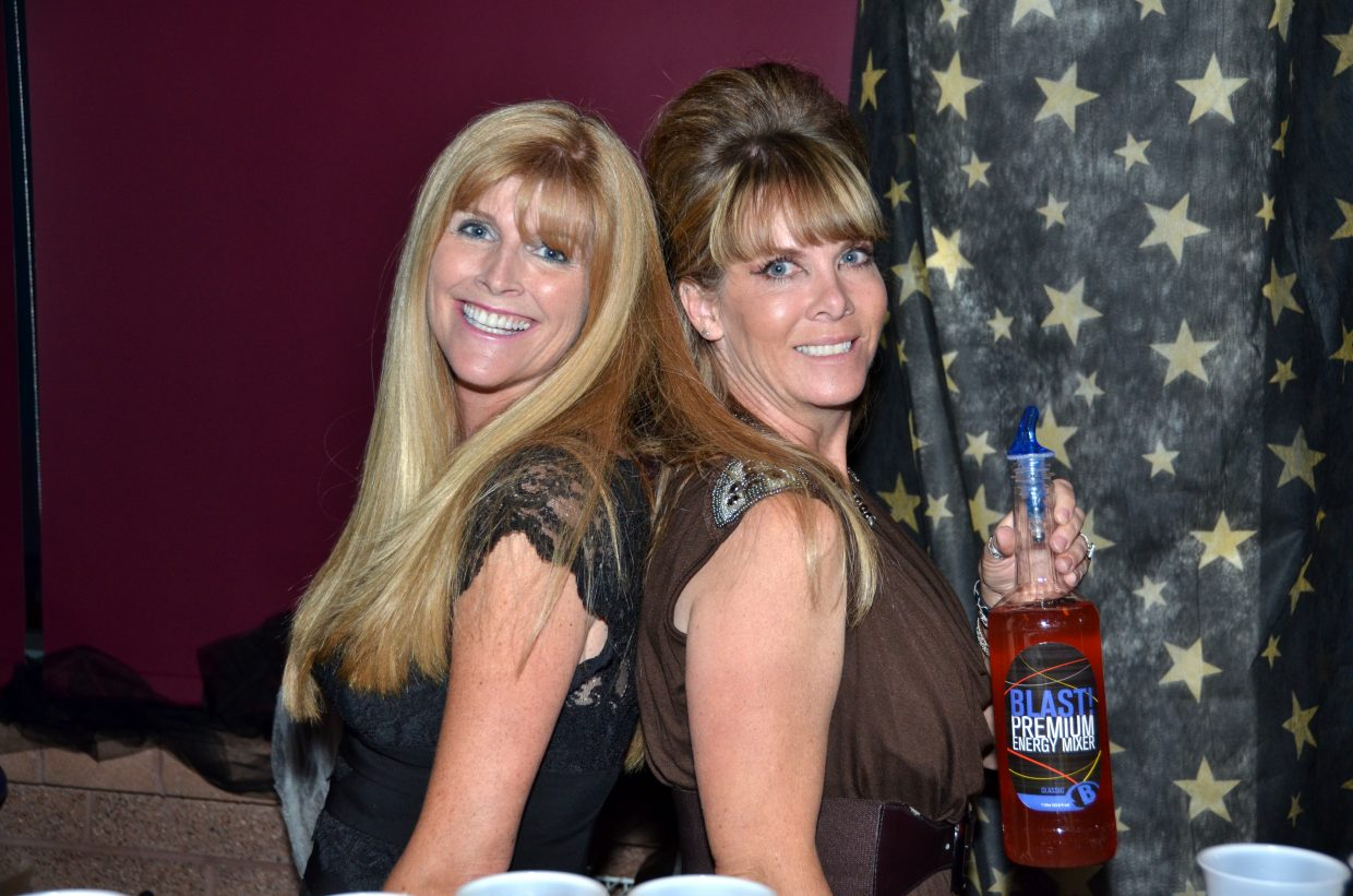 Angie Robinson and Lisa Lorenz manned the energy bar at Steamboat's After Prom. Photo courtesy Shannon Lukens.