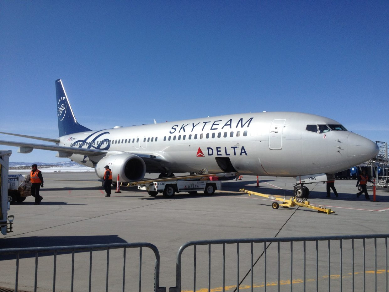 Skywest ground crew servicing Delta Airlines and passengers from Atlanta who are visiting Steamboat Springs. Submitted by: Daniel Macias