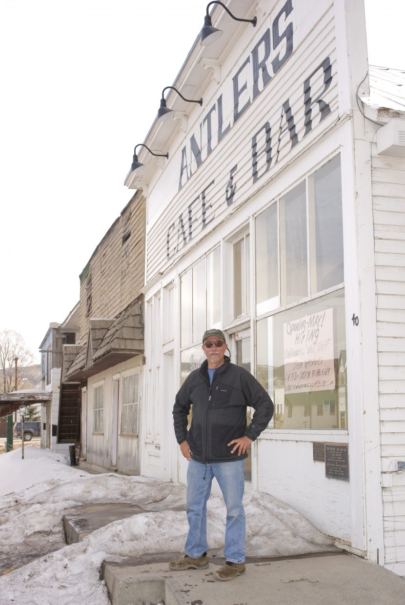 The Antlers' reopening could be a lively addition to Yampa's main drag, which also features Penny's Diner and the Royal Hotel. Tom Wester plans to have the Antlers open six days a week and closed Mondays, starting May 1.