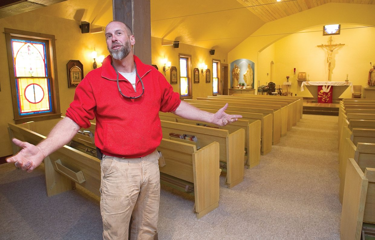 Chad McGown, a parishioner at the St. Martin of Tours Catholic Church in Oak Creek, talks about how a few improvements to the church grew into a complete renovation. The church will have a visit from Archbishop Charles Chaput to celebrate the renovation.