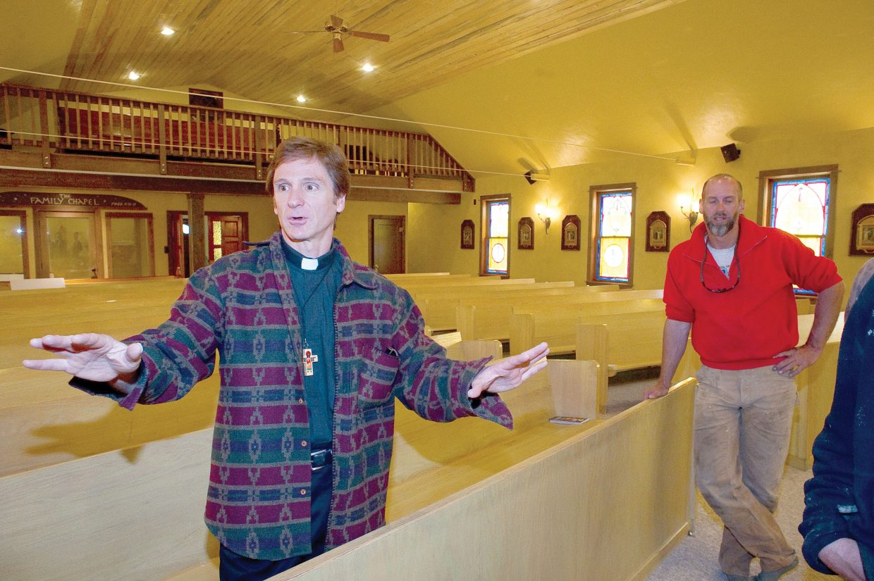 Father Ernest Bayer talks about the improvements to the St. Martin of Tours Catholic Church in Oak Creek. Archbishop Charles Joseph Chaput will visit the church in Oak Creek today.