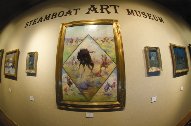 The work of E.W. Gollings, which was inspired by the same western lifestyle that has roots in Steamboat Springs, on display at the Steamboat Art Museum. There is no question that as Steamboat moves forward, art, just like cowboys, is finding its place in Steamboat Springs.