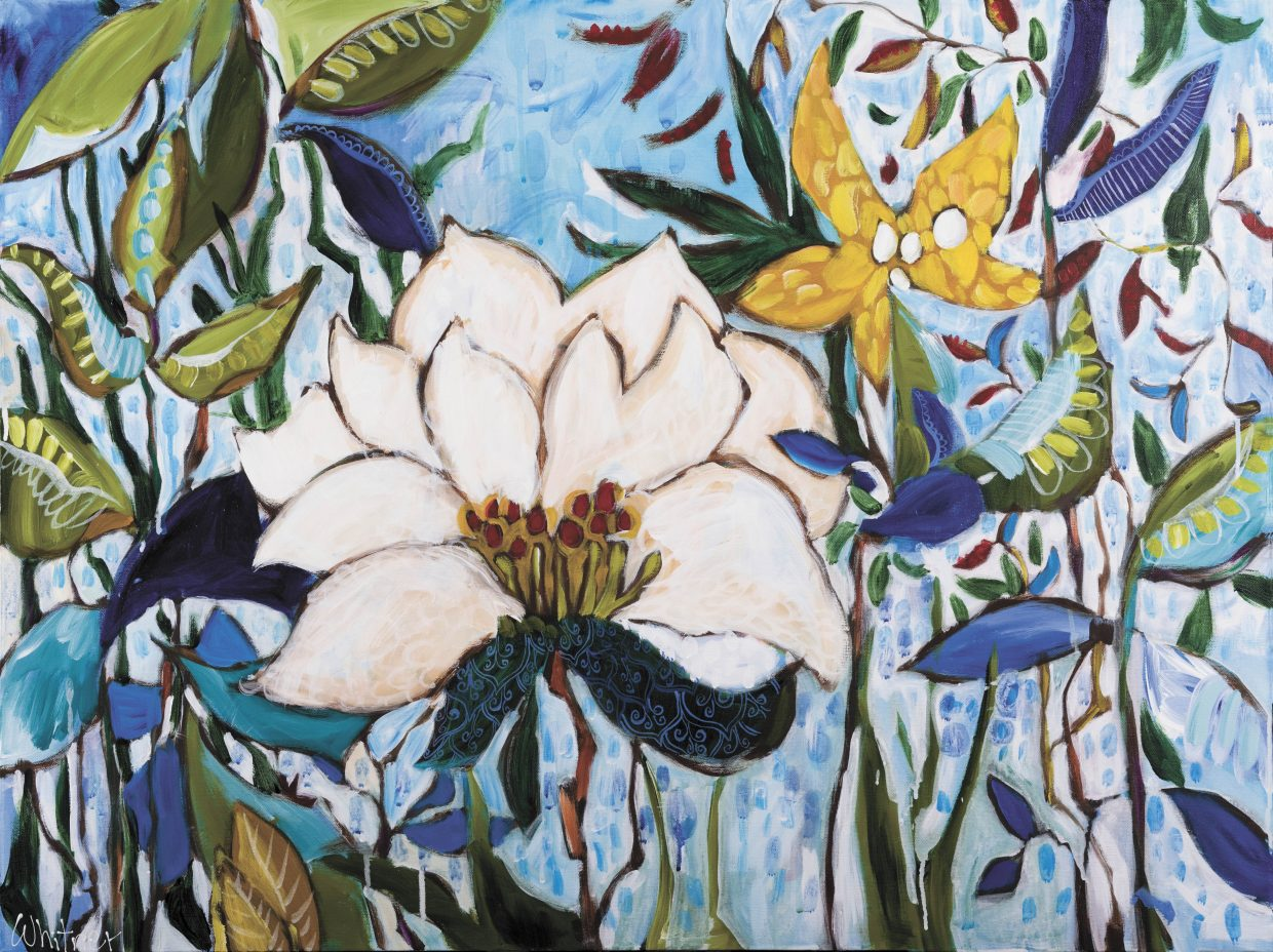 """""""White Lotus"""" by Lance Whitner. The work opens as part of the Steamboat Springs Center for Visual Arts' first show on March 1."""