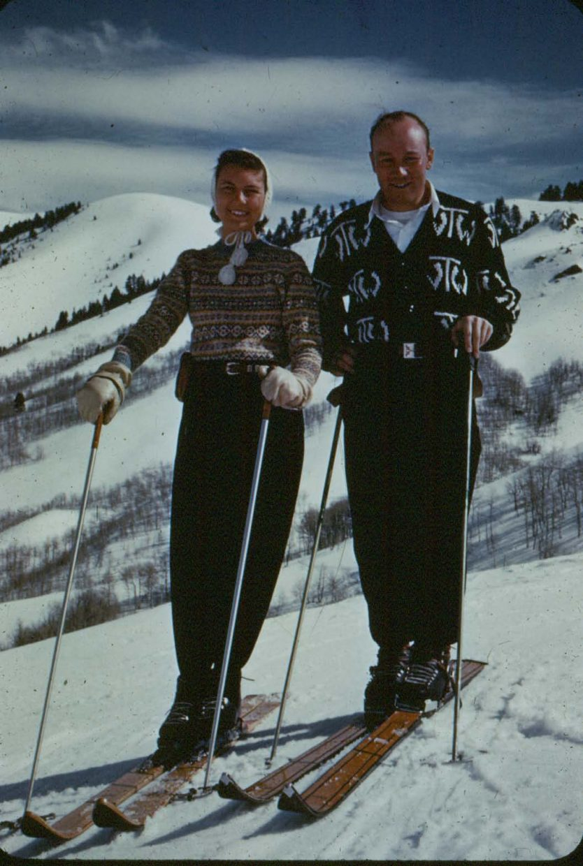 Jim Temple and his wife, Audrey Light Temple, in an undated photo.