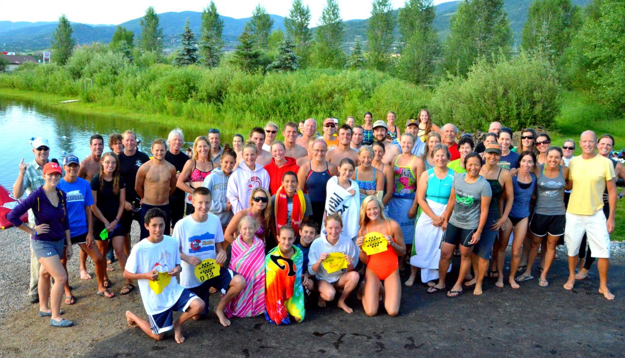 Sixty-five swimmers took part in Monday's open water swim at Bald Eagle Lake. Avery Harrington and Tyler Terranova won the half-mile swim, and Frank Ruppel and Samantha Terranova won the mile length.