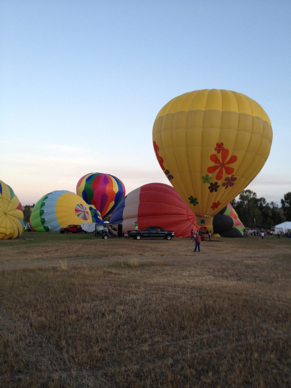 Balloons set up for the night light. Submitted by: Julie Smith