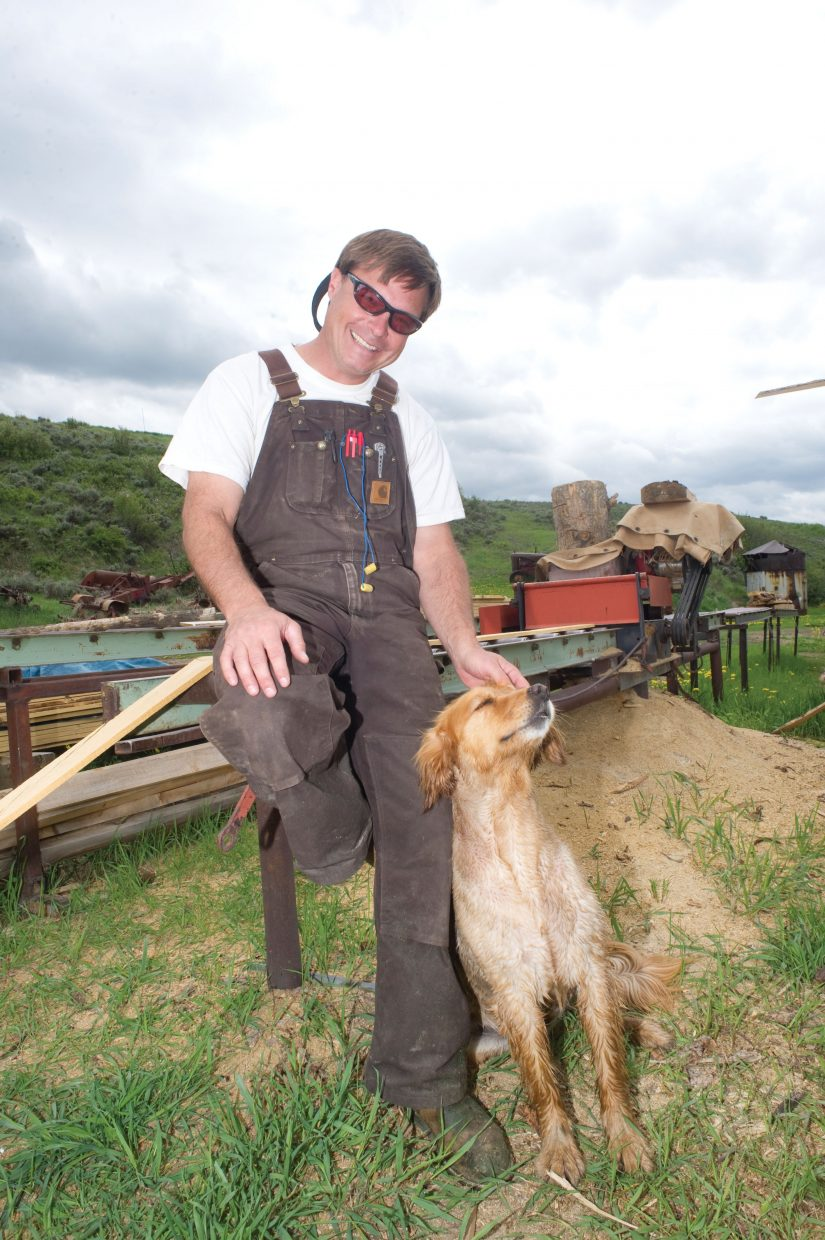 Ed Watson, of Wood Wise Productions, is hoping to make the most of beetle-killed wood.
