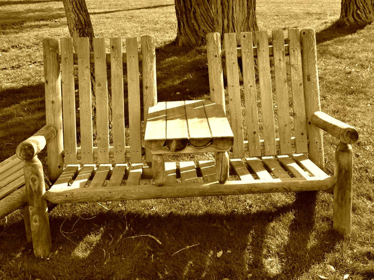 Benches at the Riverbend Cabins. Submitted by: Jeff Hall
