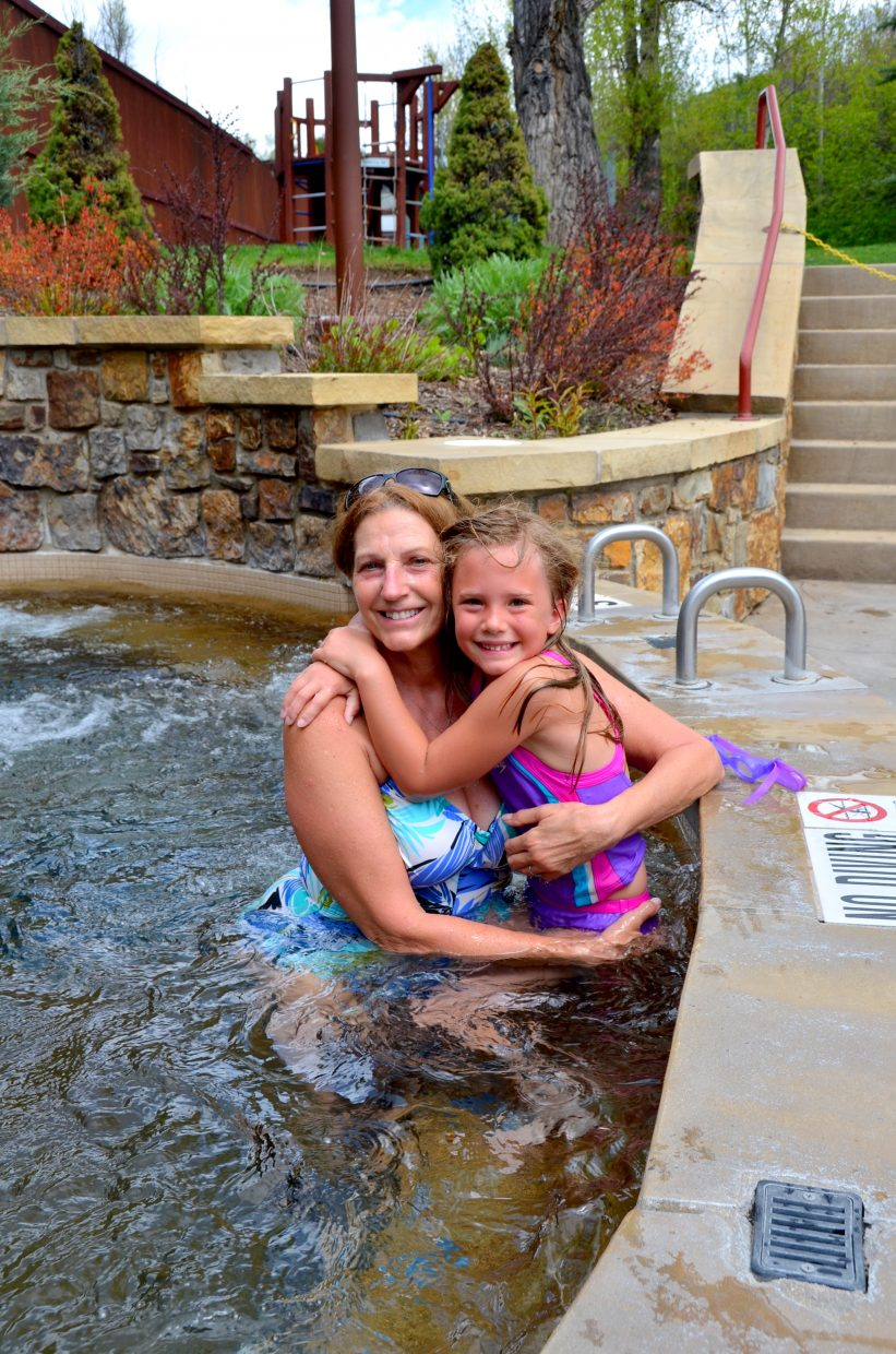 It's Nana Day for Jasmine. She's enjoying some pool time at the Old Town Hot Springs with her grandmother, Bettiann Carrell, who is a retired schoolteacher from Steamboat Springs Middle School. Submitted by: Shannon Lukens