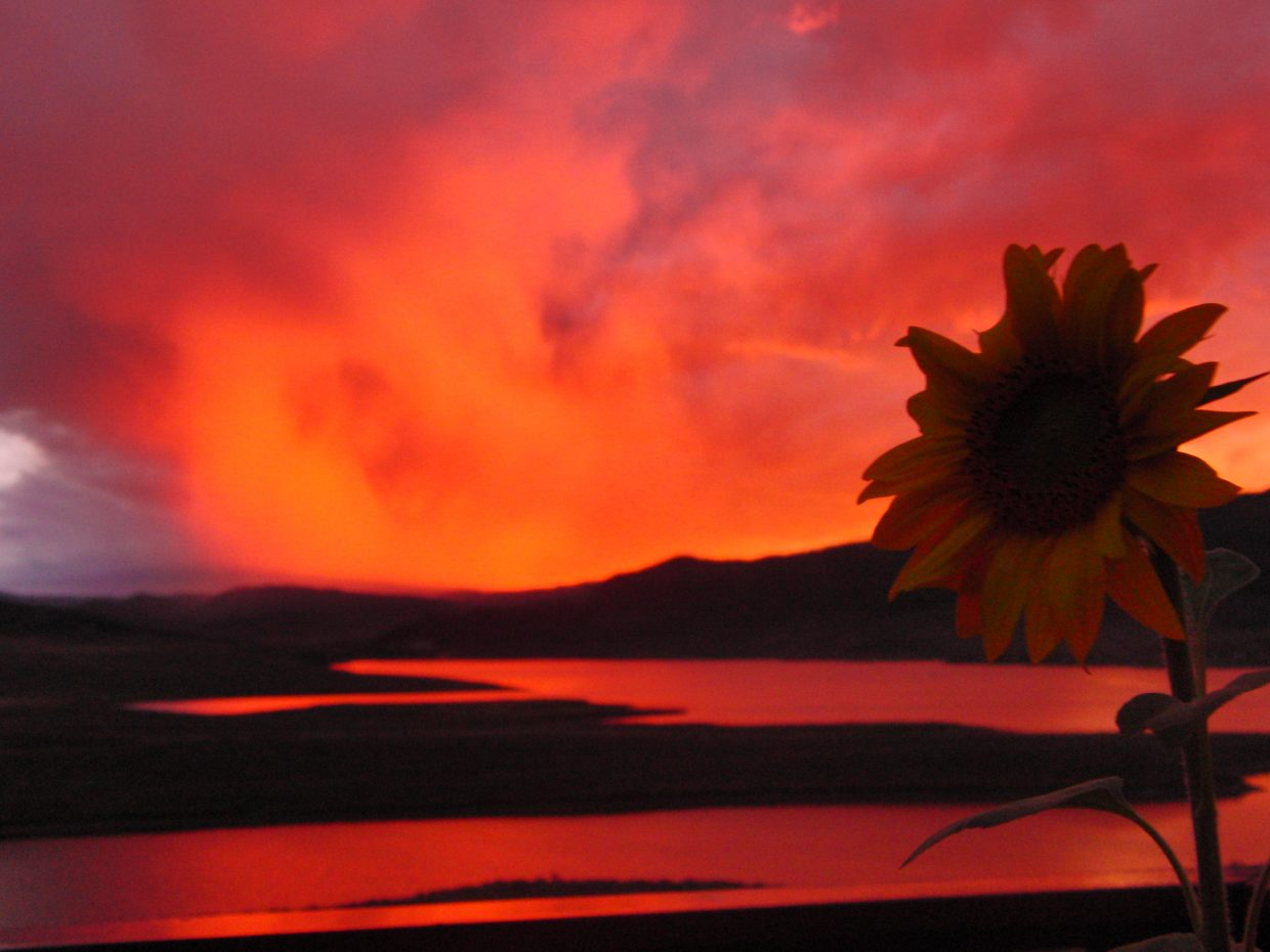 Labor Day weekend sunset at Stagecoach Reservoir. Submitted by: Andre Elkins
