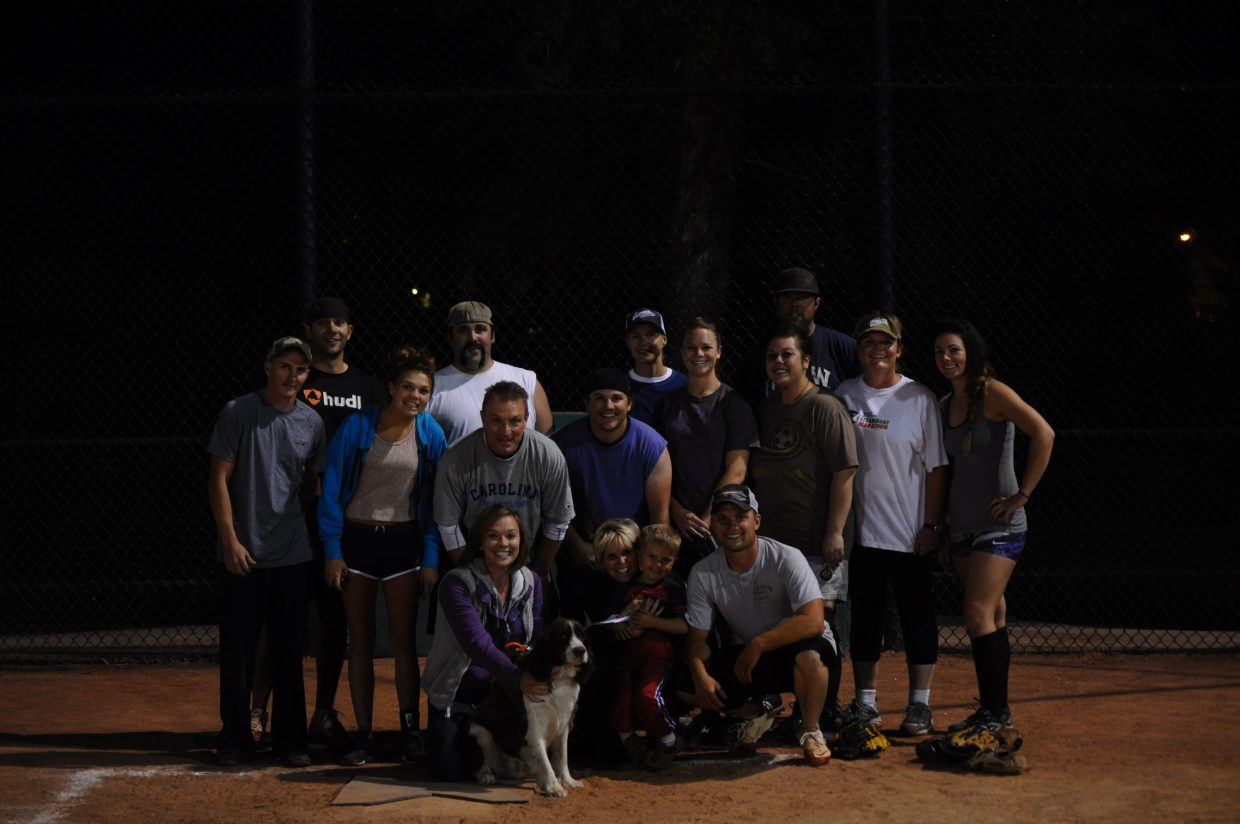 Softball Coed B League champion for 2012 was Russell's Auto/Sunshine Towing.