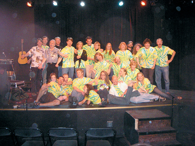 "The cast, crew and band of ""The Times Are A-Changin' Cabaret '07"" after their second show May 19."