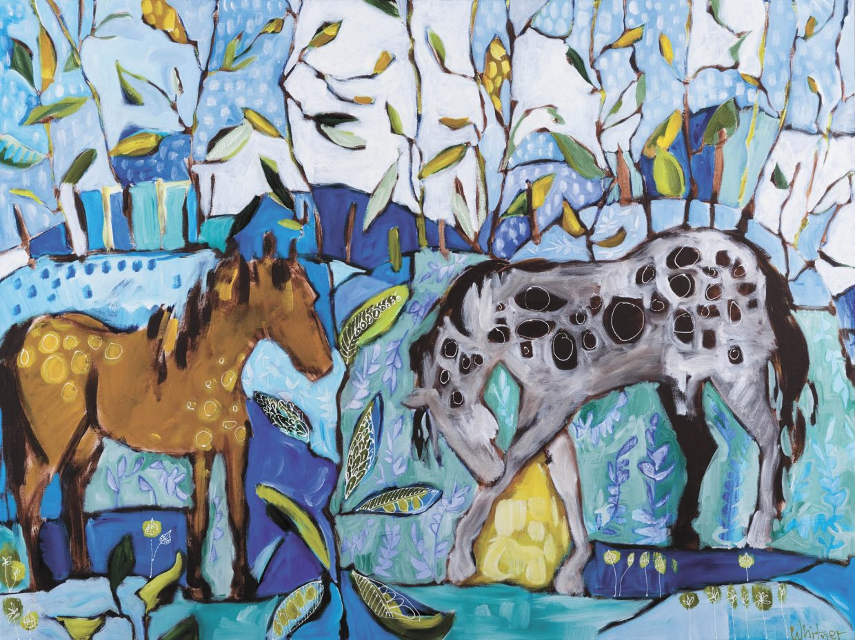 """""""Two Horses"""" by Lance Whitner. Whitner's paintings are featured at the Steamboat Springs Center for Visual Arts, which hosts its grand opening from 5 to 8 p.m. today."""
