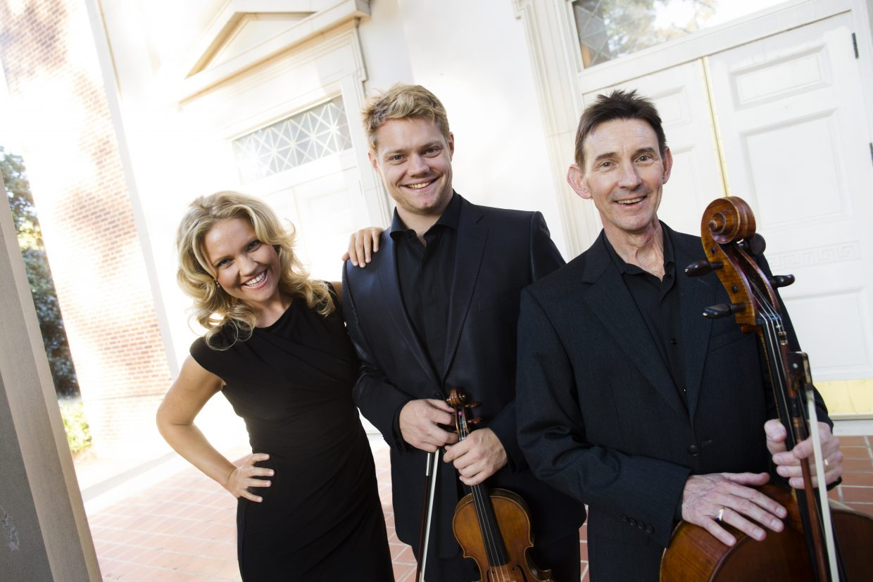 The Christiania Trio plays at 8 p.m. Saturday at Springs Music Pavilion. Tickets are $5 to $37.