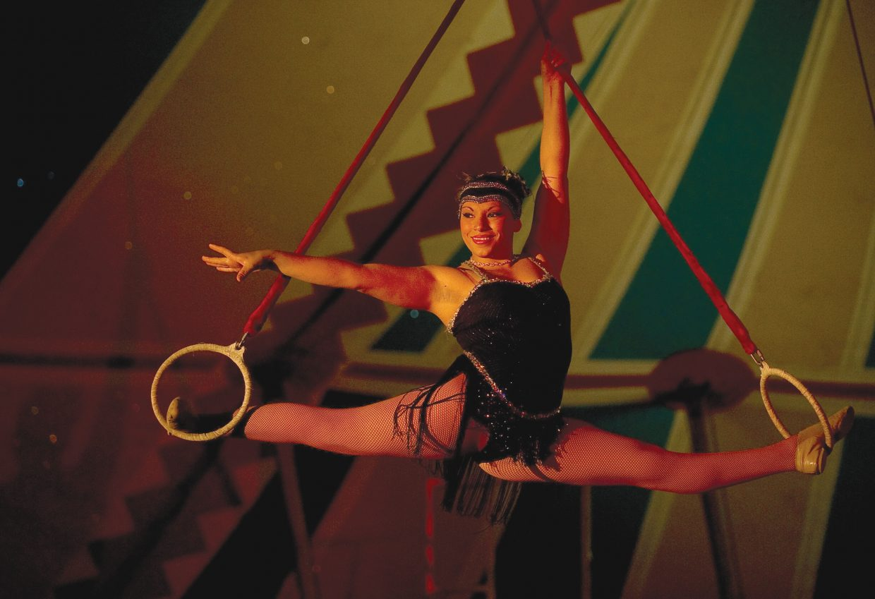 Esthefany Pintado performs as part of the American Crown Circus on Wednesday evening.