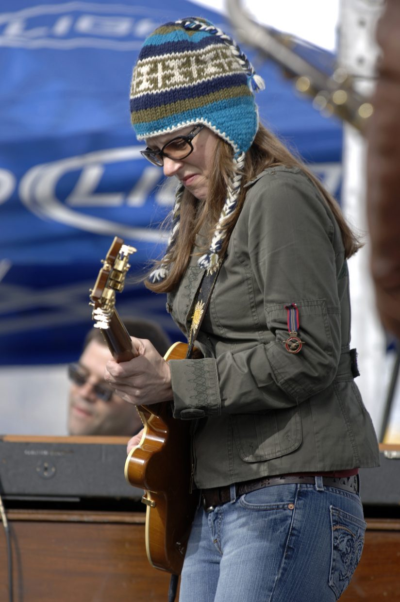 Susan Tedeschi performs Sunday in Gondola Square. Sunday's Springalicious festivities brought an end to a record-setting winter at the Steamboat Ski Area.