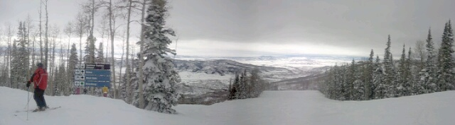 From the top of Rolex at Steamboat Ski Area. Submitted by: Matthew Grasse