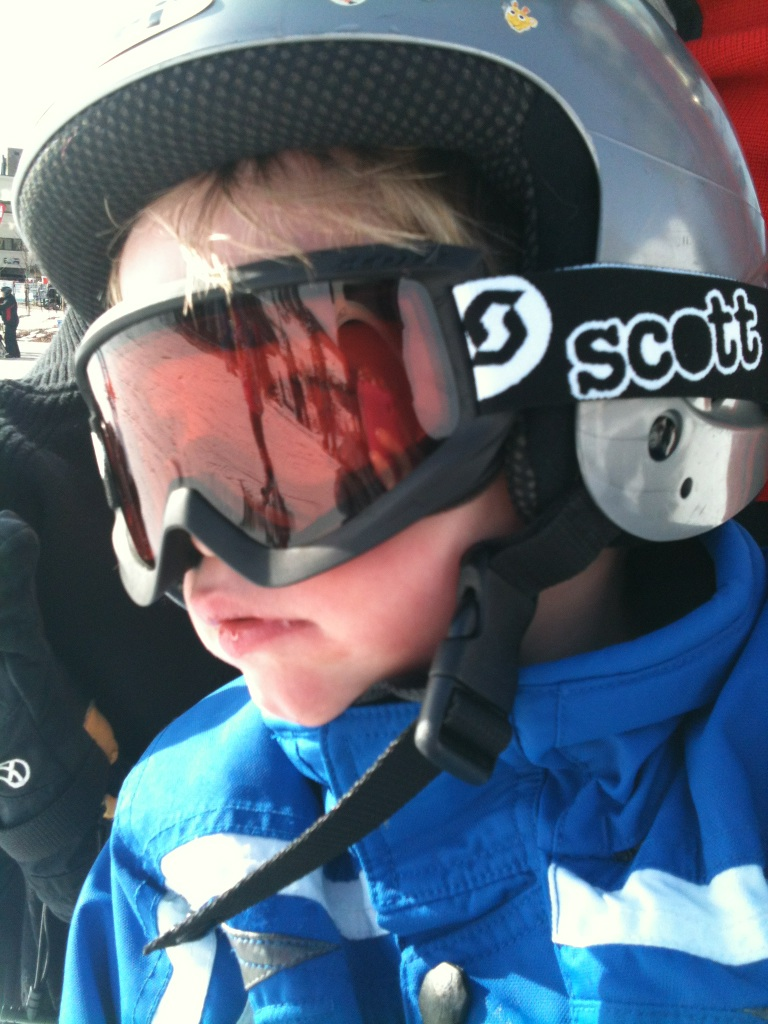 First ski for Steamboat locals Jerry and Loretta Kuhlman's grandson Connor Scott Smith, age 3 1/2. Submitted by: Priscilla Smith