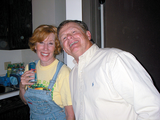 Eileen and Steve Jones backstage.
