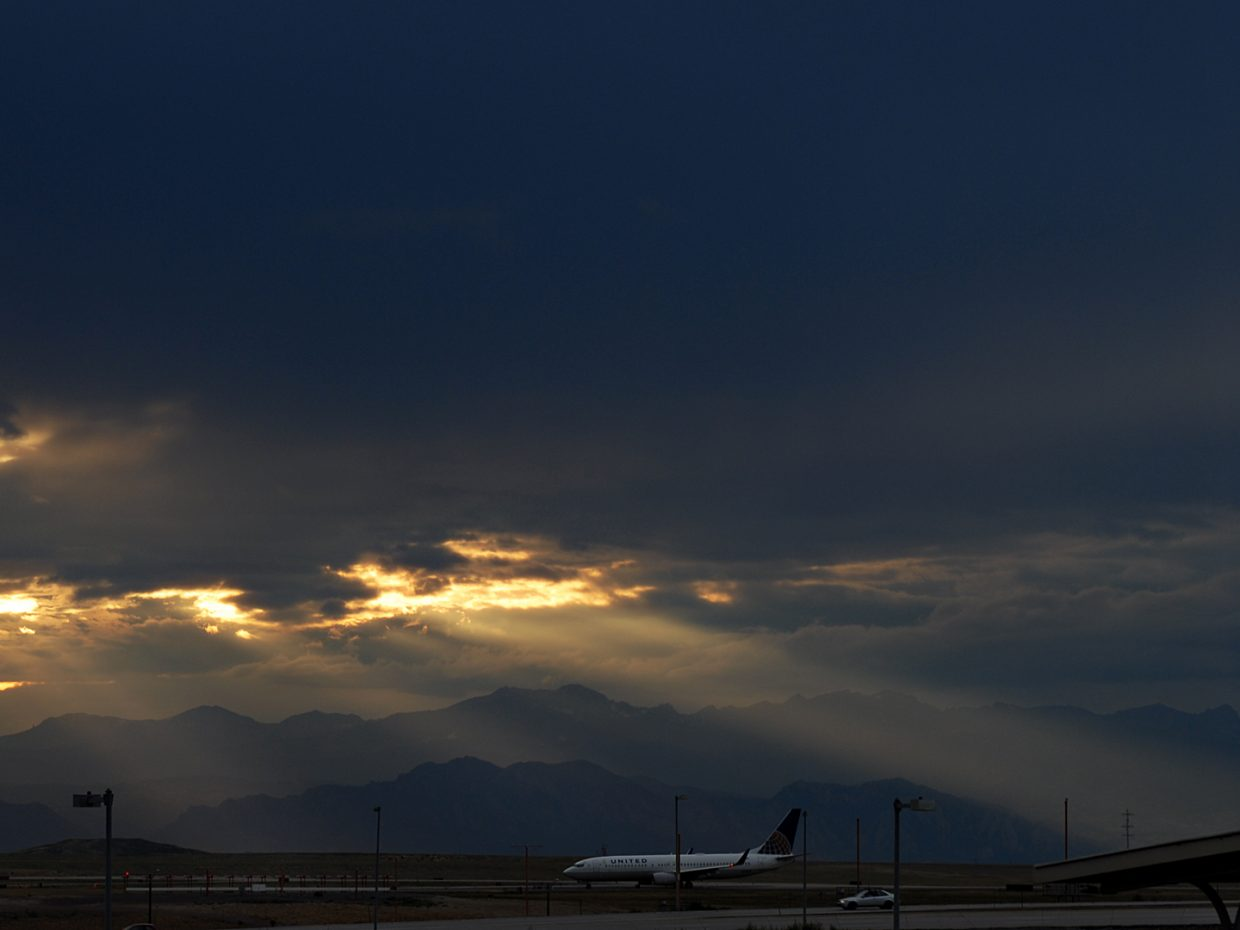 Evening skies at Denver International Airport. Submitted by: Jeff Hall