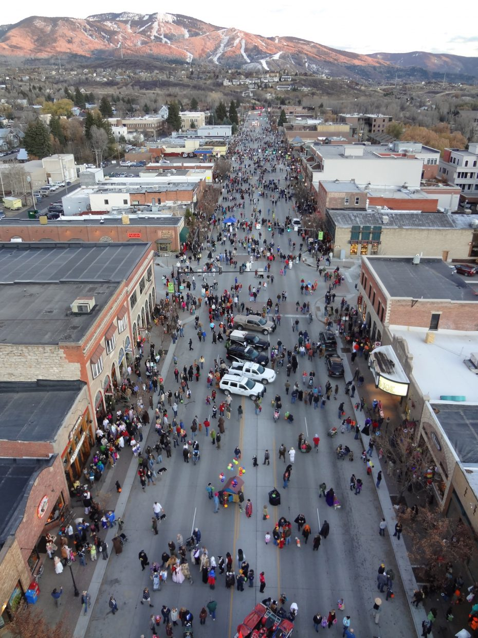 Steamboat Springs Fire Rescue took this photo of downtown Steamboat Springs during the Downtown Halloween Stroll. Submitted by: Brian Shively