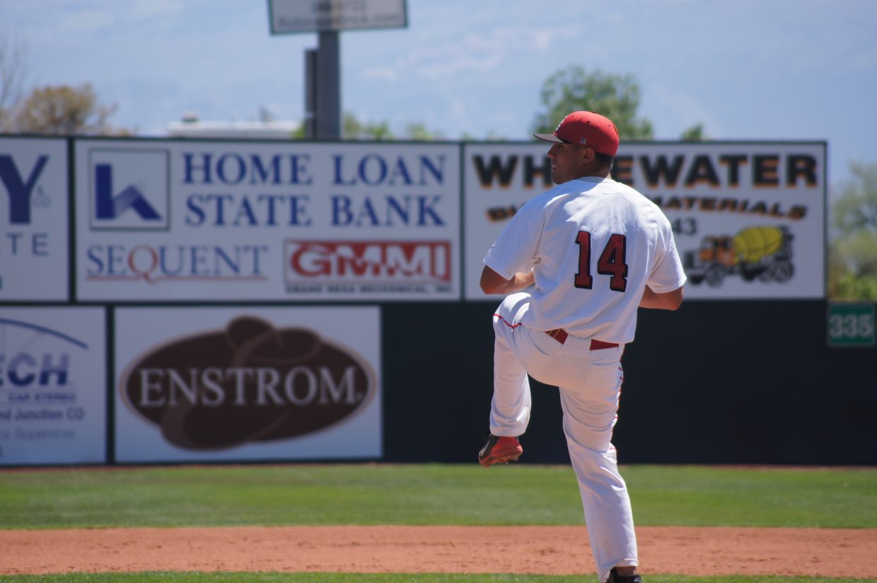 Tyler Brown pitches his last game for Steamboat Springs High School.