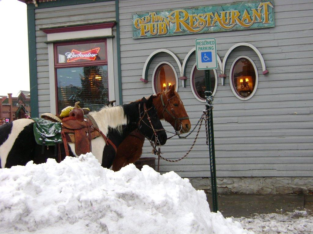 Reserved parking in front of the Old Town Pub. Submitted by: Karen Lewer