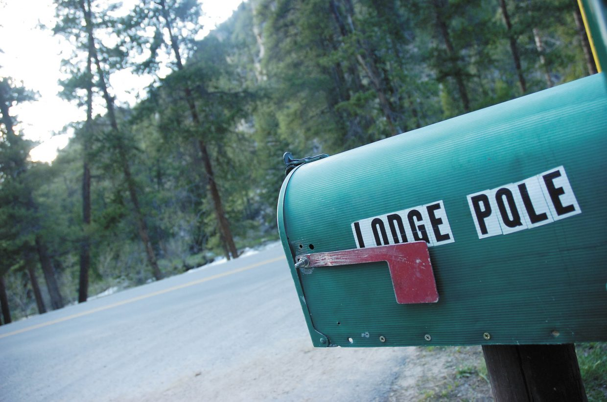 The Lodgepole Campground's mailbox.