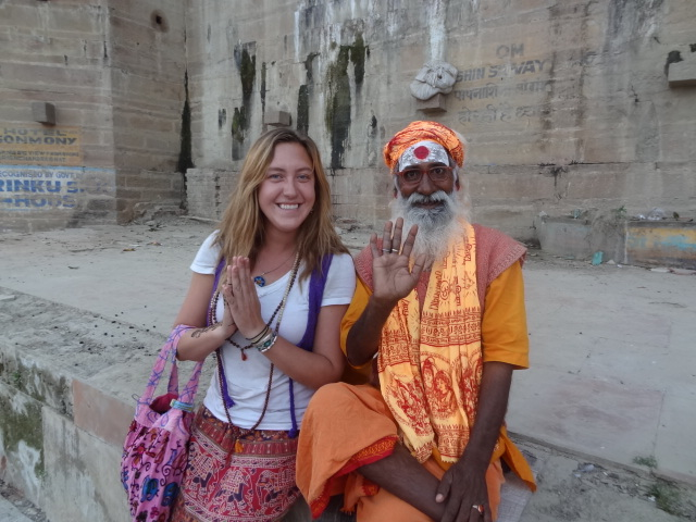 Kailey Fischer has been traveling through India and Nepal the past two months. She returned home Tuesday, just in time for Christmas. Submitted by: Gena Fischer