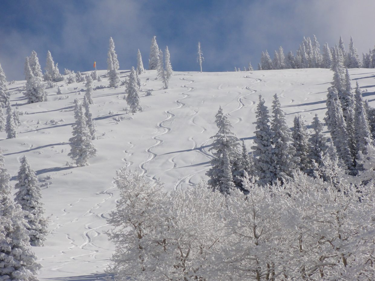 This was taken Friday Nov. 12 after making some turns off Storm. Submitted Nov. 17 by Bradley Luth.