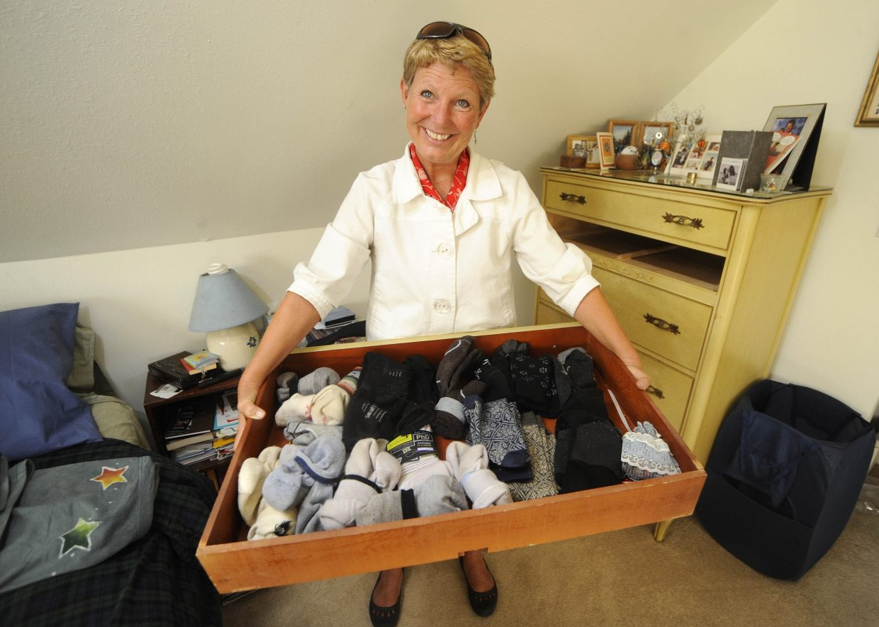 Like many Steamboat Springs residents, Sandy Evans Hall has collected a drawer full of SmartWool socks. It's the only kind of sock that she and her husband wear.