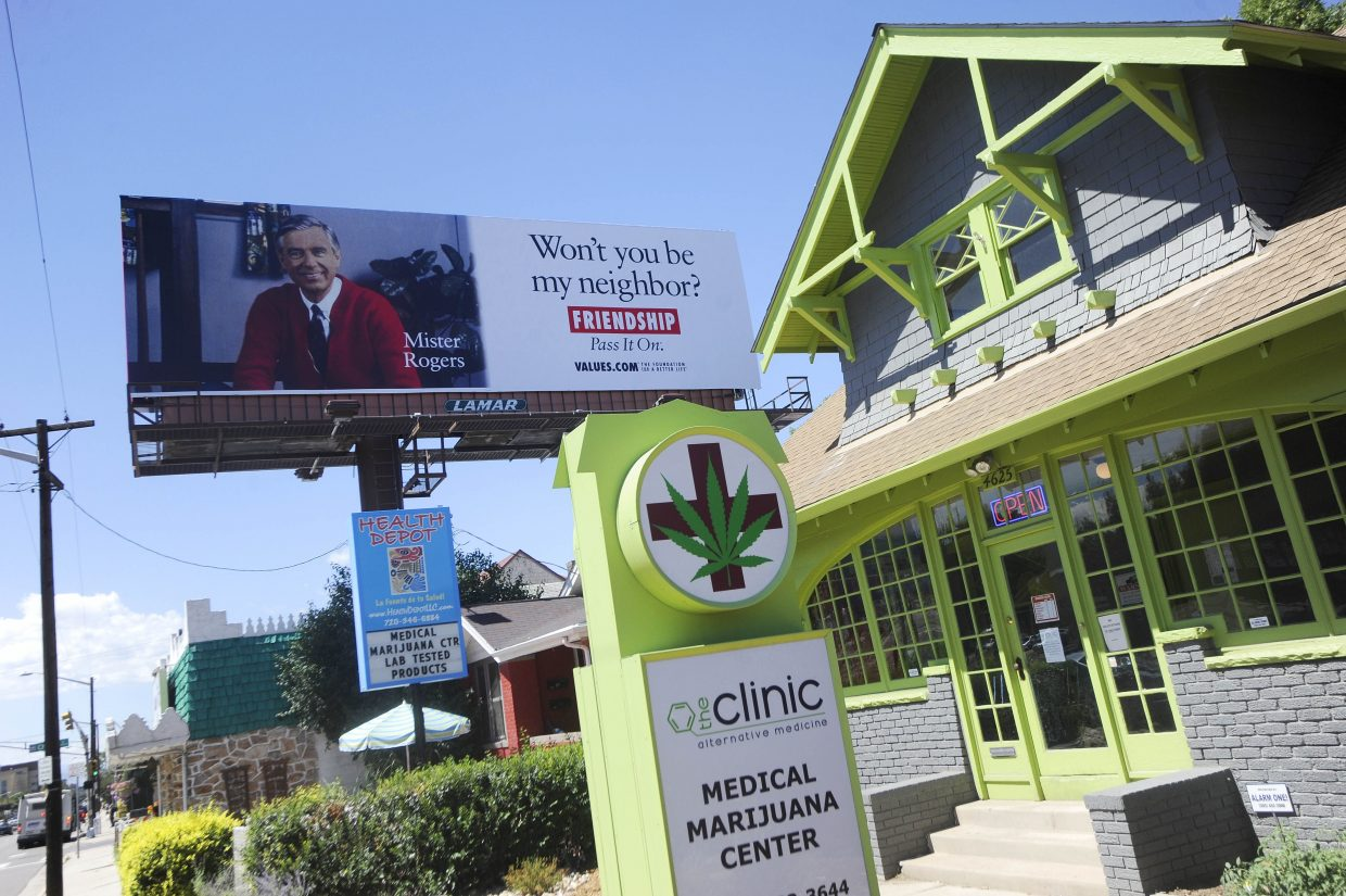 East Colfax Avenue in Denver also has a large concentration of medical marijuana centers, some next door to each other.