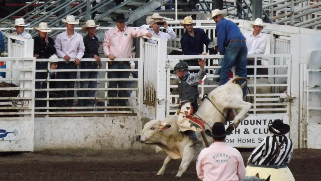 Bull riding at Steamboat Springs Rodeo on June 22. Submitted by: Dana Squier