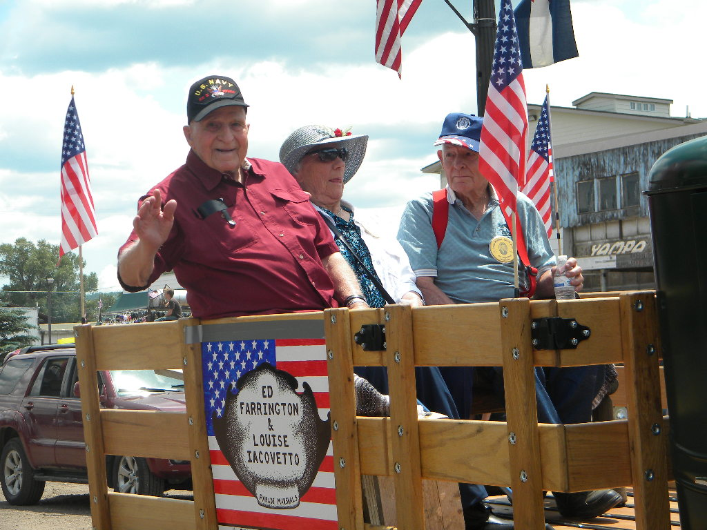 From left, Robert Rossi, Louise Iacovetto and Ed Farrington were the grand marshals of Yampa's Fourth of July parade. All three graduated from Yampa Union HIgh School in 1943. Iacovetto and Farrington have lived in South Routt since then.