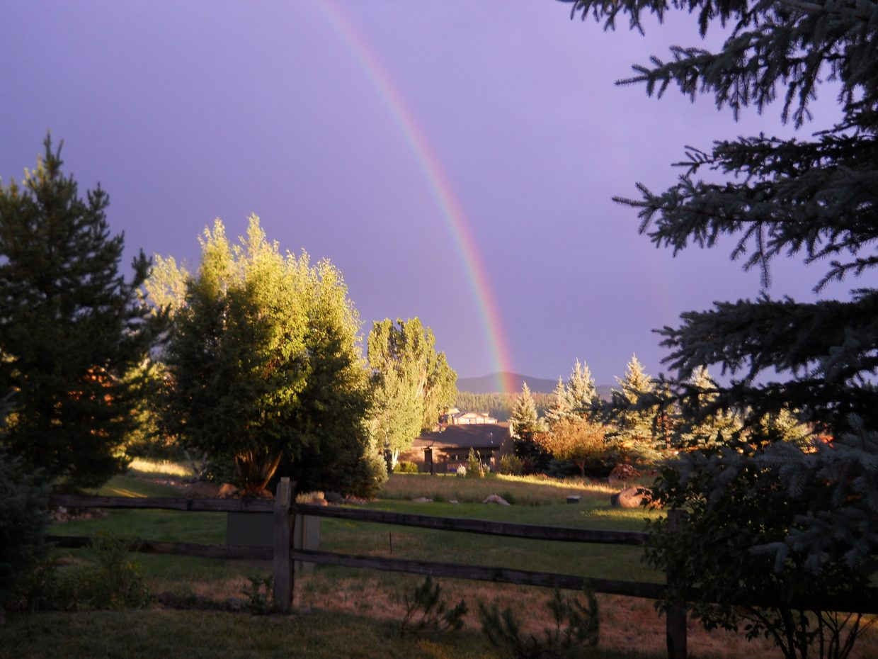 A welcome rainbow. Submitted by Robert Burks.