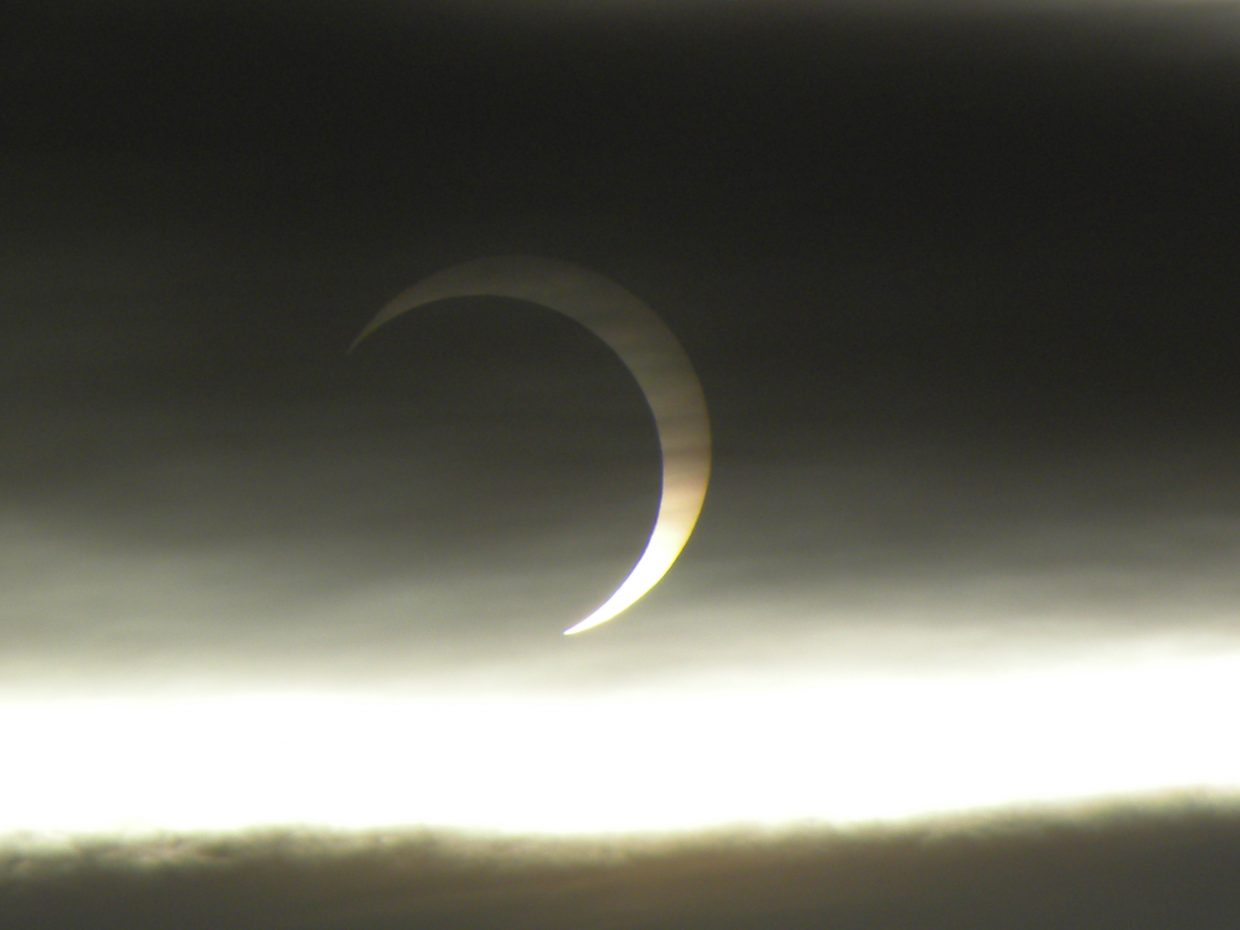 Solar eclipse on May 20. Submitted by: Tanner Hollingsworth