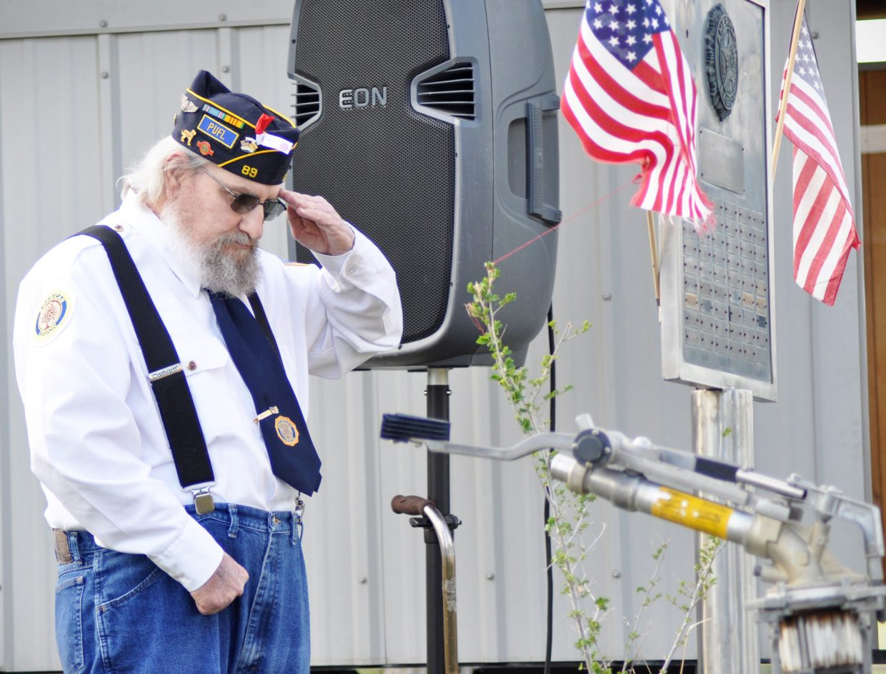 Memorial Day ceremony at the Hayden Cemetery. Submitted by: Wendy Lind